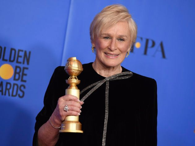 Glenn Close et son Golden Globe de