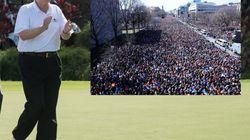 En réponse à la marche contre les armes, Trump joue au golf et la NRA moque un