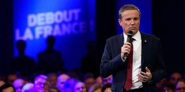 D'habitude réélu dans un fauteuil, Nicolas Dupont-Aignan était contesté dans sa circonscription de l'Essonne...