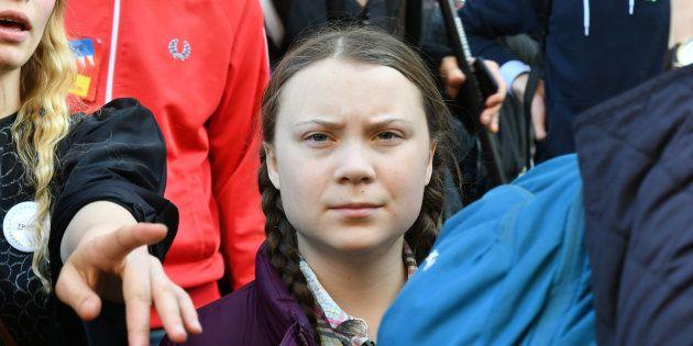 Greta Thunberg lors de la manifestation pour le climat à Paris le 22 février