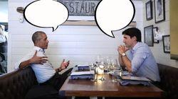 Les images du tête à tête de Trudeau et d'Obama, la rencontre qui a fait