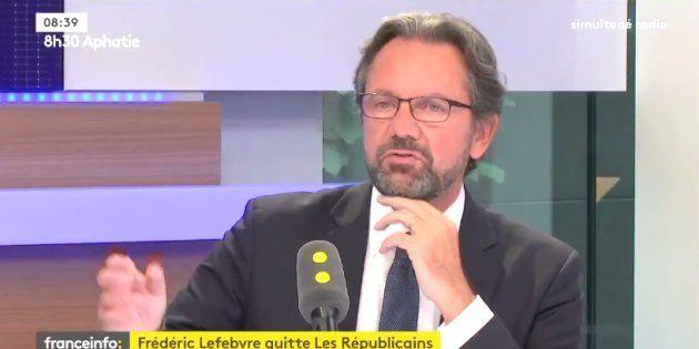 Frédéric Lefebvre quitte Les Républicains et accuse Nicolas Sarkozy de l'avoir menacé dans la loge de...