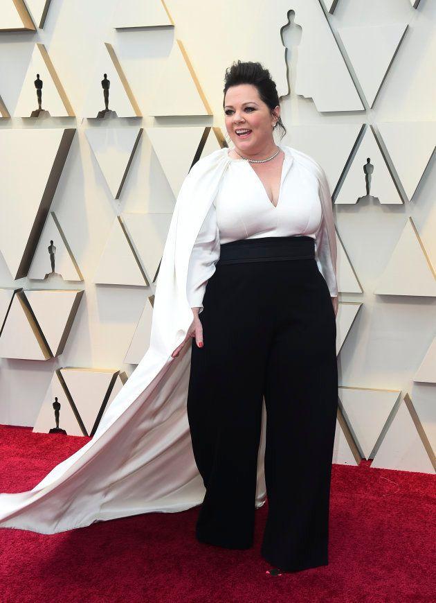 Melissa McCarthy sur le tapis rouge des Oscars, le 24 février 2019.