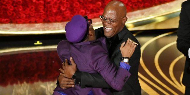 Le réalisateur Spike Lee n'a pas caché sa joie en recevant le premier Oscar de sa carrière