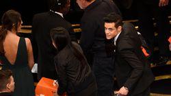 Rami Malek est tombé de scène après avoir reçu son