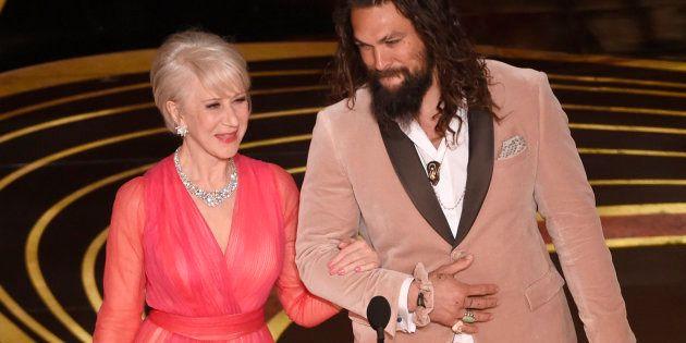 Aux Oscars 2019, Jason Momoa et son chouchou ne sont pas passés