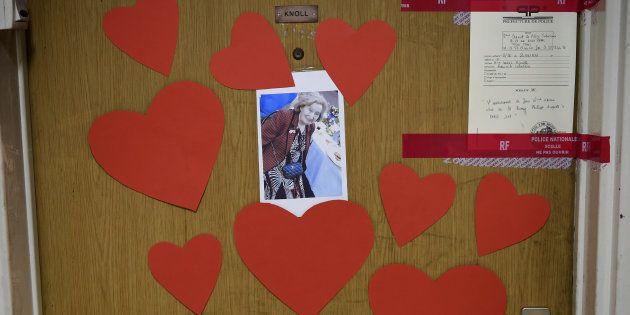 La porte de l'appartement de Mireille Knoll, prise le 27 mars