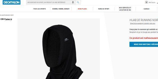2491e4bd1e2d8 Un hijab de course chez Decathlon? La marque parle d'une erreur | Le ...