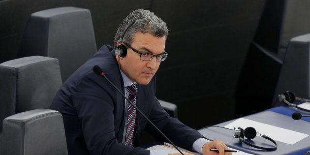 Aymeric Chauprade lors d'une session au Parlement européen de Strasbourg en avril 2016