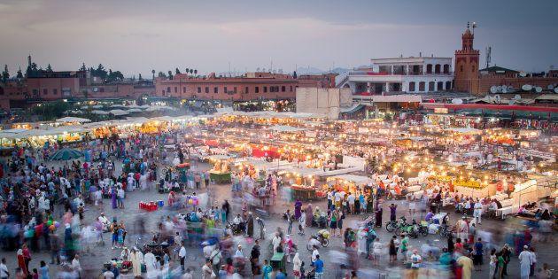 Vue aérienne à Marrakech (photo