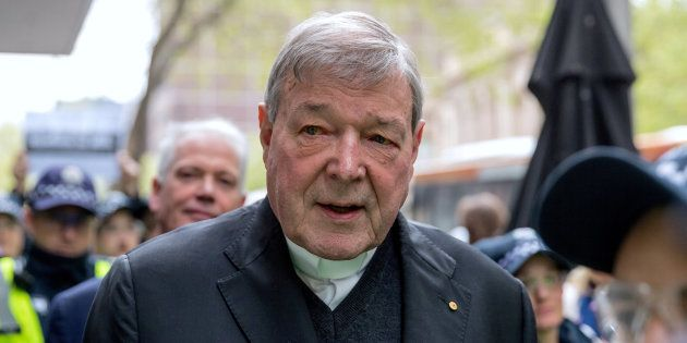Le Cardinal George Pell au tribunal de Melbourne en 2017