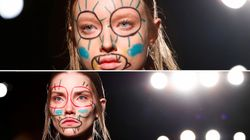 Les maquillages de ces mannequins ne sont pas passés inaperçus à
