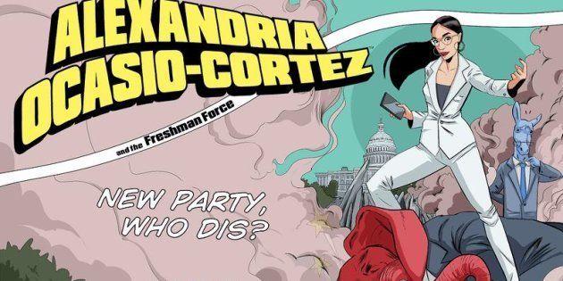 Alexandria Ocasio-Cortez, plus jeune élue au Congrès américain, star d'un comics disponible en mai