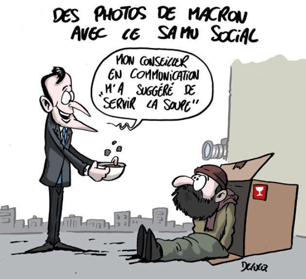 Emmanuel Macron sert-il les SDF ou s'en