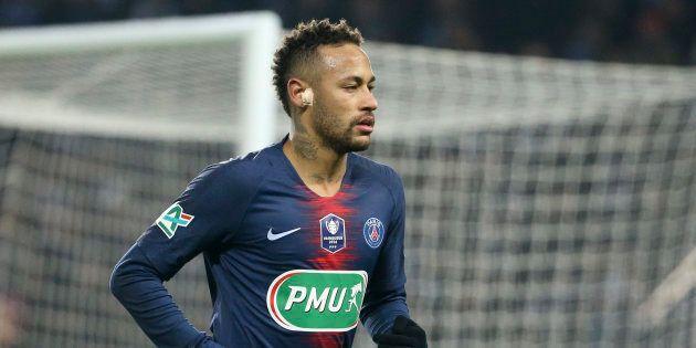 Neymar lors de PSG-Strasbourg en Coupe de France le 23 janvier