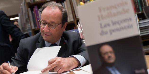 Gilets jaunes: François Hollande y consacre un chapitre dans son livre réédité (Photo prise le 28 novembre