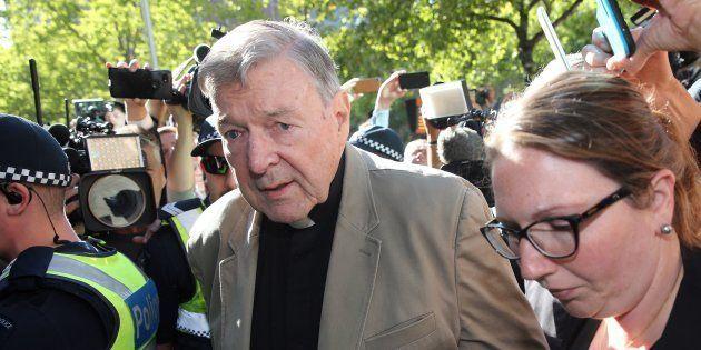 Le cardinal George Pell à Melbourne en Australie le 27 février