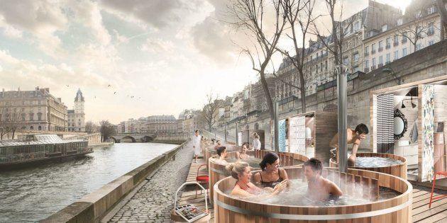 La marque suédoise Ikea installera du 1er au 3 mars des bains nordiques sur les quais de Seine à