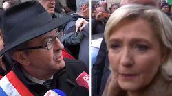 Sifflés et injuriés, Mélenchon et Le Pen forcés de quitter le cortège de la marche