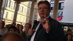 Mélenchon demande à un journaliste de partir pendant un