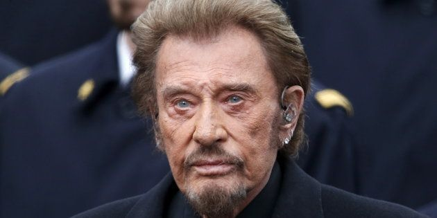 Johnny Hallyday à Paris le 10 janvier