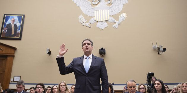 Michael Cohen lors de son audition devant la commission d'enquête de la Chambre des représentants à Washington,...