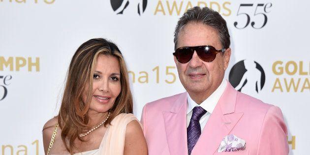Philippe Charriol, ici avec sa femme en 2015 à Monaco, était un grand amateur de course automobile et...