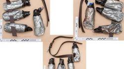 La police diffuse la photo des fausses ceintures explosives portées par les terroristes lors de l'attentat de