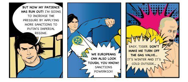 Le personnage de comics Captain Euro défend les intérêts européens en combattant les visées impérialistes,...