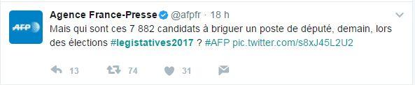 Législatives 2017: comment le mauvais hashtag #LegisTatives2017 s'est imposé sur