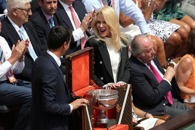 Avant la finale Rafael Nadal-Stan Wawrinka, Nicole Kidman a donné à Roland-Garros des allures de festival...