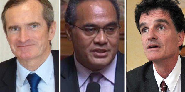 Stéphane Demilly, Napole Polutélé et Paul Molac, les trois députés élus au premier