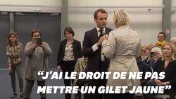Invité surprise au débat de Schiappa, Macron explique pourquoi il refuse de mettre un gilet