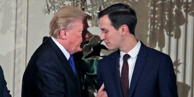 Donald Trump et Jared Kushner à la Maison-Blanche à Washington le 7 décembre