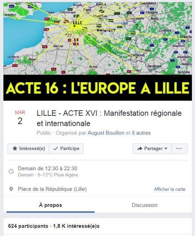 Un appel à converger vers la capitale des Hauts-de-France réunit plus de 1800