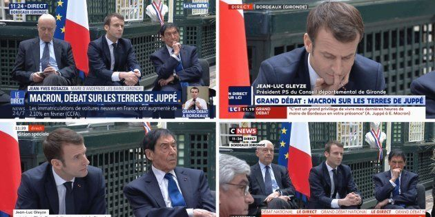 Le réunion du grand débat qu'Emmanuel Macron tient ce vendredi à Bordeaux est retransmise sur toutes...
