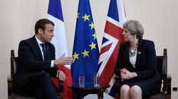 Emmanuel Macron tout puissant face à Theresa May, et c'est la presse britannique qui le
