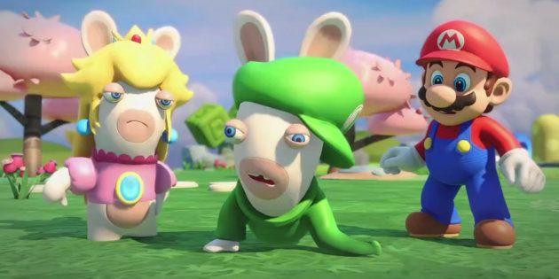 Mario s'invite dans les Lapins Crétins Kingdom
