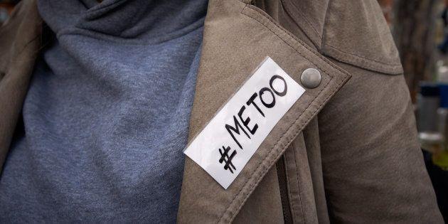 Une manifestation pour dénoncer le harcèlement sexuel après le scandale Harvey Weinstein, à Toulouse,...