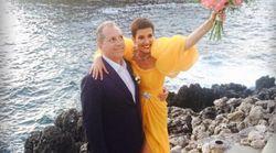 Cristina Cordula s'est mariée dans une robe