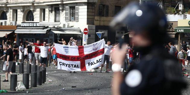 Des supporters anglais à Marseille lors de l'Euro le 11 juin