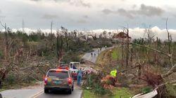 Les images de l'Alabama après le passage de la tornade