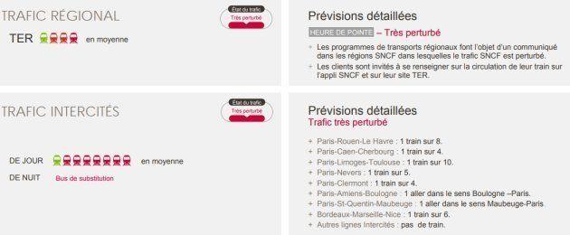 Grève SNCF du mardi 3 avril: les prévisions de trafic pour les TGV, trains et