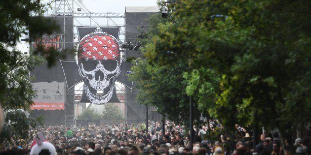 Sur le site du Hellfest à Clisson le 17 juin