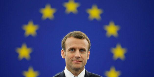 Emmanuel Macron, ici au Parlement européen en avril 2018, publie une tribune qui donne le coup d'envoi...