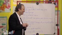 Xavier Niel essaye de chanter du Claude François avec les enfants de