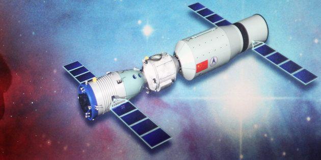 Une représentation de la station spatiale chinoise datant de