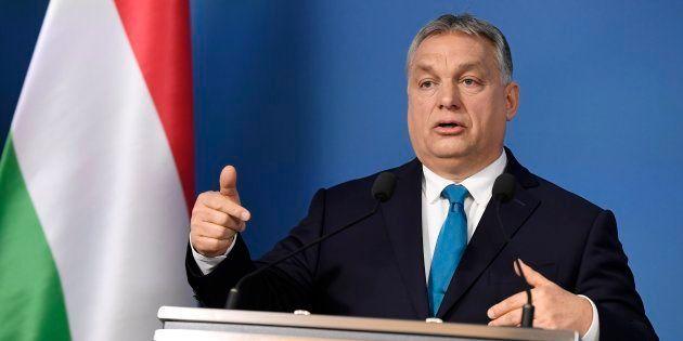 Le premier ministre hongrois Viktor Orban lors d'une conférence de presse le 10