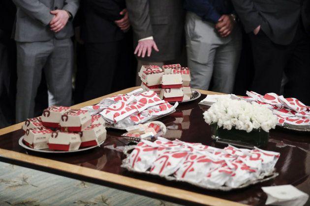 Donald Trump n'a pas changé le menu de ses réceptions avec des