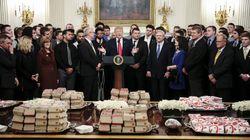 Trump n'a pas changé le menu de ses réceptions avec des